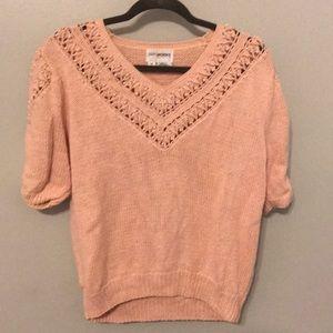 Vintage Light Pink Knit Sweater